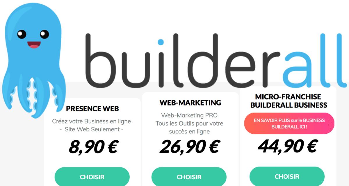Tarifs de Builderall en français